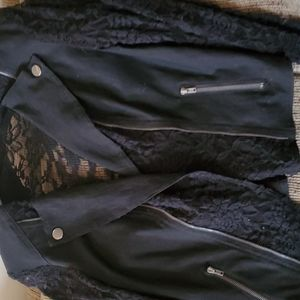Black lace moto
